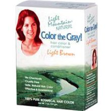 Light Mountain, Color the Gray! Natural Hair Color & Conditioner - Light Brown