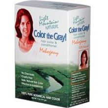 Light Mountain, Color the Gray! Natural Hair Color & Conditioner - Mahogany