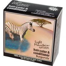 Light Mountain, Natural Hair Color & Conditioner - Burgundy