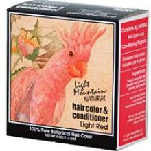 Light Mountain, Natural Hair Color & Conditioner - Light Red