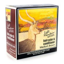 Light Mountain, Natural Hair Color & Conditioner - Medium Brown