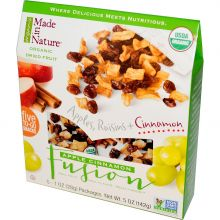Made in Nature, Organic Dried Fruit, Apple Cinnamon Fusion, 5 Packages, 1 oz Each