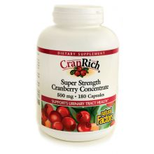 Natural Factors, CranRich, Super Strength Cranberry Concentrate, 500 mg, 180 Capsules