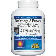 Natural Factors, RxOmega-3 Factors, 120 Softgels