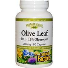 Natural Factors, Olive Leaf Extract, 500 mg, 90 Capsules