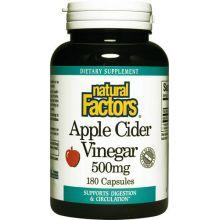 Natural Factors, 蘋果醋, 500 mg, 180 粒