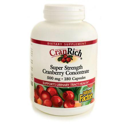 Natural Factors, CranRich, Super Strength Cranberry Concentrate, 500 mg, 180 Capsules