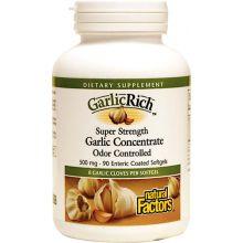 Natural Factors, 大蒜精華, 500 mg, 90粒軟膠囊