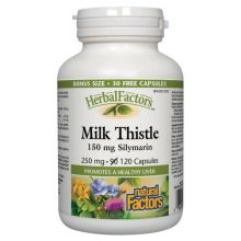 Natural Factors, Herbal Factors, Milk Thistle, 250 mg, 120 Capsules