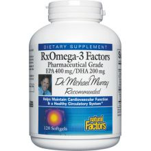 Natural Factors, RxOmega-3 Factors, 120 Softgels