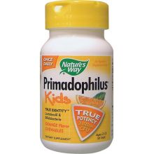 Nature's Way, Primadophilus, Kids, Orange Flavor Chewables, Ages 2-12, 30 Tablets
