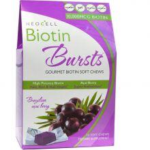 Neocell, Biotin Bursts, 生物素 巴西莓果味骨胶原软糖 30粒装