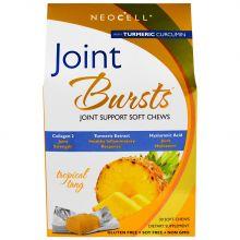 Neocell, Joint Bursts, 關節配方 熱帶風味骨膠原軟糖 30粒裝