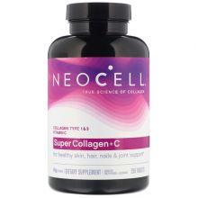 NeoCell, 超級膠原蛋白 + 維他命 C, Type 1 & 3, 250 粒