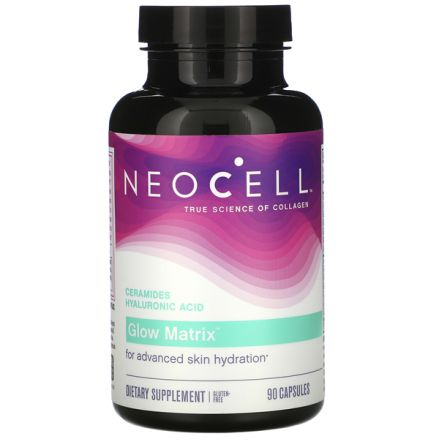 Neocell, Glow Matrix, 神經醯胺透明質酸, 90 粒膠囊