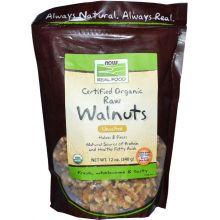 Now Foods, Certified Organic Raw Walnuts, Unsalted, 12 oz.