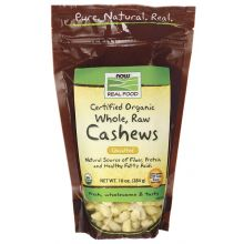 Now Foods, Certified Organic, Raw Cashews - Unsalted, 10 oz.