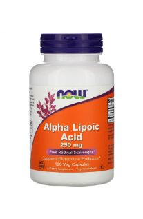NOW Foods, Alpha Lipoic Acid, 250 mg, 120 Veg Caps