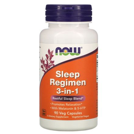 Now Foods, 睡眠方案 3 合 1, 90 粒素食膠囊