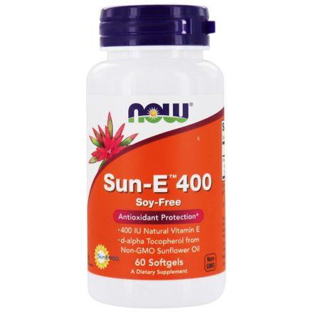 Now Foods, Sun-E (葵花籽維他命 E) 400, 60 粒軟膠囊