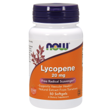 NOW Foods, Lycopene, 20 mg - 50 Softgels