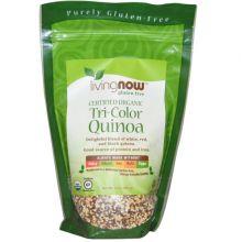 livingNOW, Certified Organic Tri-Color Quinoa, 14 oz