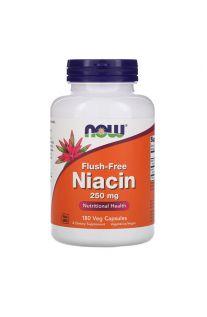 Now Foods, 维他命B3 (聚六烟酸 / 粟米芯素) 250 mg, 180 素食胶囊