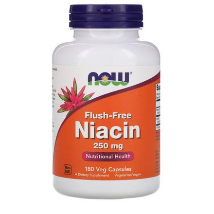 Now Foods, 維他命B3 (聚六煙酸 / 粟米芯素) 250 mg, 180 素食膠囊