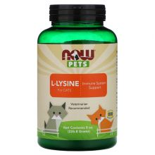 Now Foods, Pets 寵物, L-賴氨酸免疫系統補充劑 (貓專用) 8oz