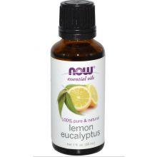Now Essential 檸檬 + 尤加利精油, 1 fl oz (30 ml)
