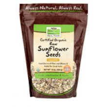 Now Foods, Certified Organic Raw Sunflower Seeds, Unsalted, 16 oz.