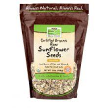 Now Foods, 有機向日葵籽,無鹽, 16 oz.