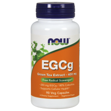 Now Foods, EGCg, Green Tea Extract, 400mg 90 Veg Capsules