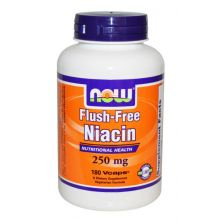 Now Foods, 維他命B3 (聚六煙酸) 250 mg, 180 素食膠囊