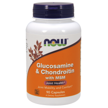 Now Foods, Glucosamine & Chondroitin with MSM, 90 Capsules