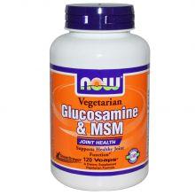 NOW Foods, 葡萄糖胺及 MSM, 素食者適用, 120 Vcaps