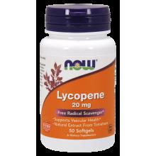 NOW Foods, Lycopene, 20 mg - 50 Softgels