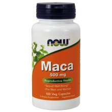 NOW Foods, 秘鲁人参 (玛卡), 500 mg, 100 粒
