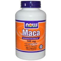 NOW Foods, 秘鲁人参 (玛卡), 500 mg, 250 粒