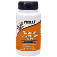 Now Foods, Natural Resveratrol, 200 mg, 60 Veggie Caps