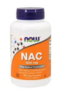 Now Foods, N-乙酰半胱氨酸, 600毫克, 100素食胶囊