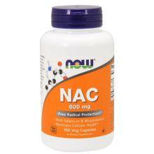 Now Foods, N-乙酰半胱氨酸, 600毫克, 100素食膠囊