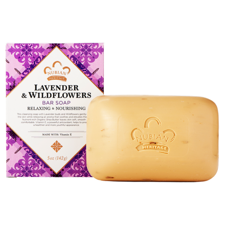 Nubian Heritage, Shea Butter Soap, With Lavender & Wildflowers, 5 oz (141 g)
