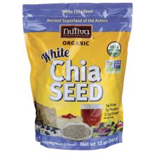 Nutiva, Organic White Chia Seed, 12 oz