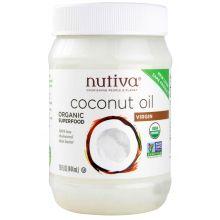 Nutiva Organic Cold-Pressed Extra-Virgin Coconut Oil 444ml (15 oz)
