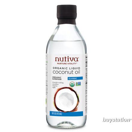 Nutiva 有機液體狀椰子油 473ml (16 oz)