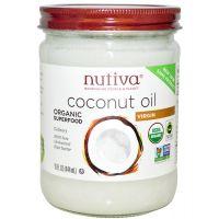 Nutiva 有機冷壓初榨椰子油 414ml (玻璃樽)