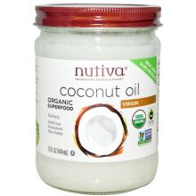 Nutiva Organic Cold-Pressed Extra-Virgin Coconut Oil 414ml (Glass)