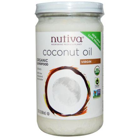 Nutiva 有機冷壓初榨椰子油 680ml (玻璃樽)