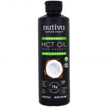 Nutiva, Organic MCT Oil From Coconut, Unflavored, 16 fl oz (437 ml)